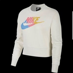 Nike crop sweatshirt Large